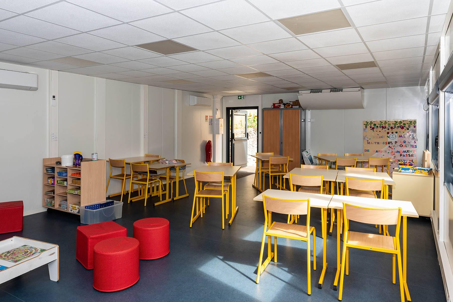 Bâtiment.modulaire salle de classe