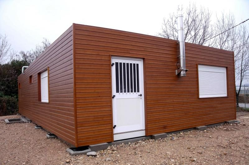 local social modulaire avec bardage bois