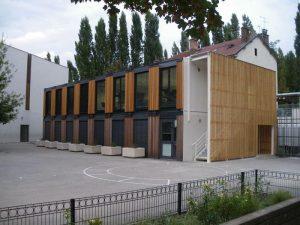 salles de classe architecturées RT 2012 type algeco